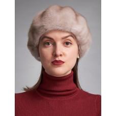 б126-79 // Головной убор меховой женский, цвет -платинум блонд (дымчатый)