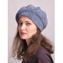 б150-а62 // Головной убор меховой женский, цвет -синий, (овчина/астраган)