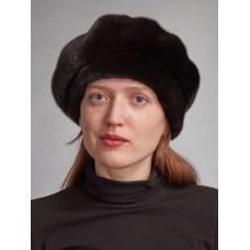 б156-6 // Головной убор меховой женский, цвет -чёрный