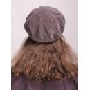 б46б-а24 // Головной убор меховой женский, цвет -серо-коричневый, (овчина/астраган)