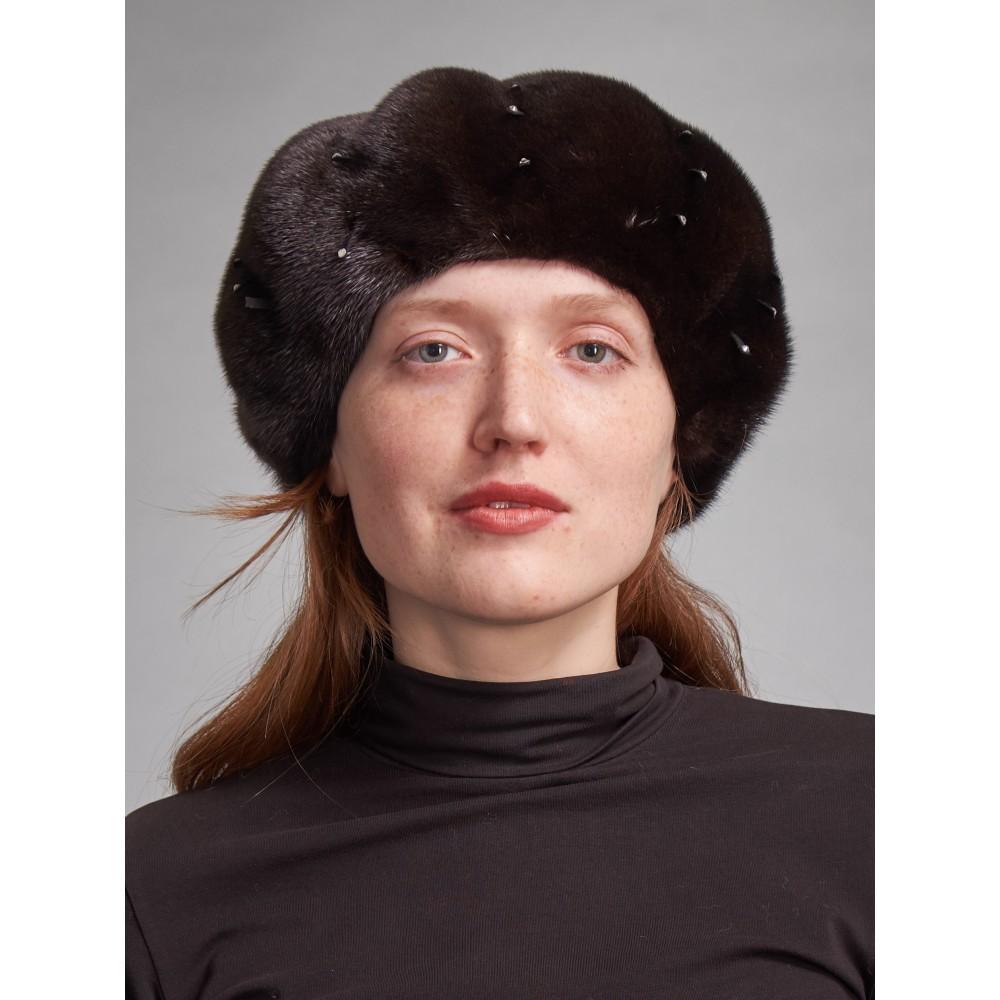 б97-6 // Головной убор меховой женский, цвет -чёрный