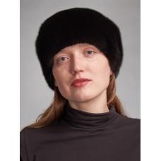 м100п-6 // Головной убор меховой женский, цвет -чёрный