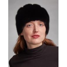 м135-6 // Головной убор меховой женский, цвет -чёрный
