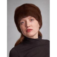 м158-4 // Головной убор меховой женский, цвет -браун (орех)